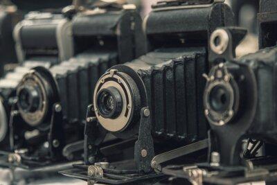 Sticker Vintage retro film camera.