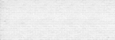 Sticker vintage white brick wall texture background