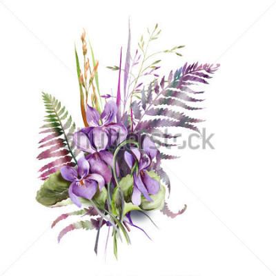 Sticker Violas Bouquet