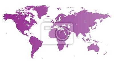 Violet carte mondiale