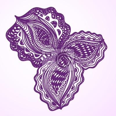 Violet élément floral abstrait pour le design décoratif.