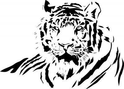 Sticker visage de tigre