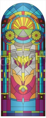 Sticker vitrail