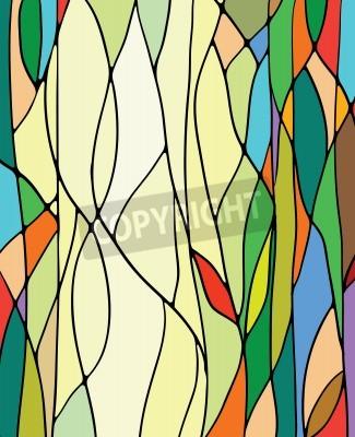 Sticker Vitrail multicolore