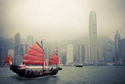 Sticker voilier de style chinois à Hong Kong