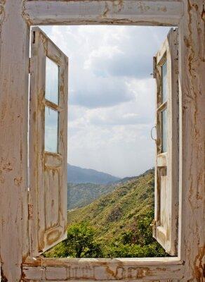 Sticker Voir Du blanc Old Window