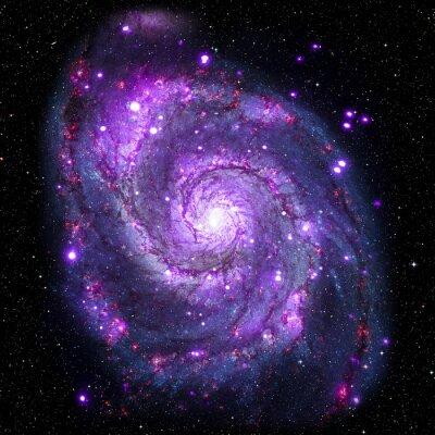 Sticker Voir l'image du système Galaxy isolé Éléments de cette image fourni par la NASA