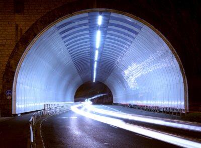 Sticker Voiture, lumières, tunnel, ville, nuit