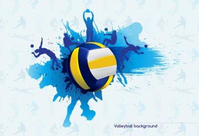 Sticker Volley-ball abstrait