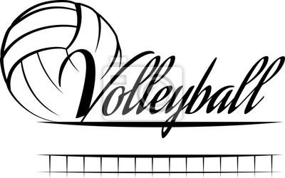 Sticker Volley-ball Bannière