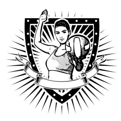 Sticker volley-ball bouclier
