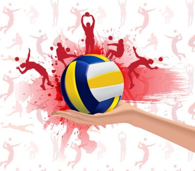 Sticker Volley-ball de conception de fond