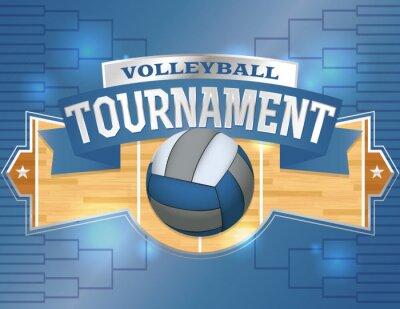 Sticker Volley-ball Tournoi de concevoir des affiches Illustration