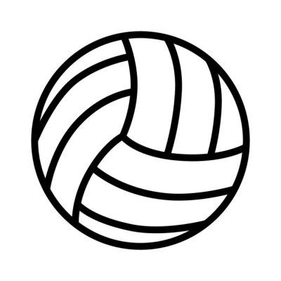 Sticker Volleyball ball line art icône pour les applications sportives et des sites Web