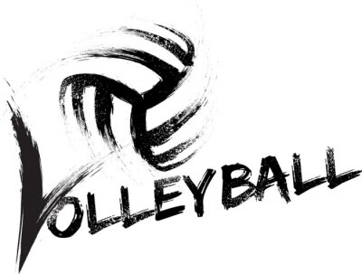 Sticker Volleyball Grunge Séries
