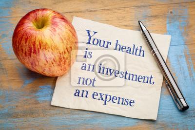 Sticker Votre santé est un investissement