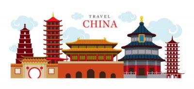 Sticker Voyage Chine Bâtiment et Ville, Destination, Attraction, Caractéristiques culturelles