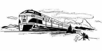 Sticker Voyage en train