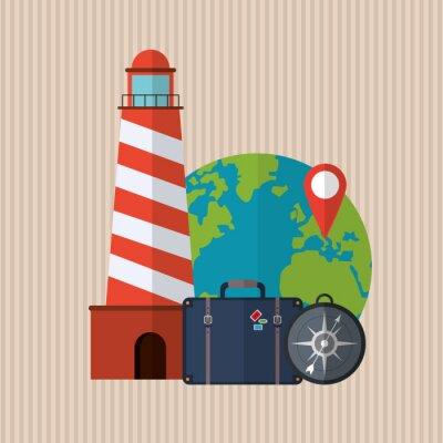 Sticker Voyage, icône, conception