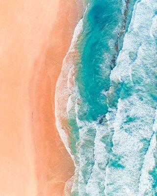 Sticker Vue aérienne de la belle plage australienne le long de la Great Ocean Road, Victoria, en été