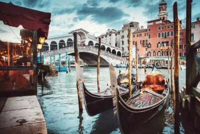 Sticker Vue classique du pont Rialto - Venise