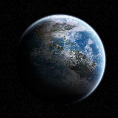 Sticker Vue de la planète Terre dans l'espace
