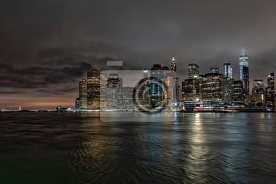 vue de nuit de manhattan de brooklyn