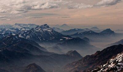 Sticker Vue depuis Hoellengebirge vers Salzbourg, Autriche