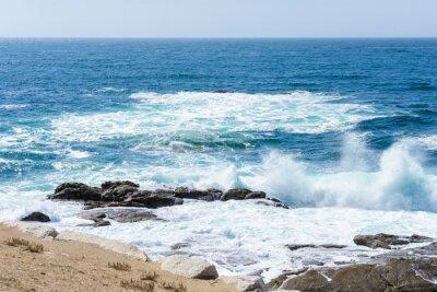 Sticker vue du ressac de l'océan