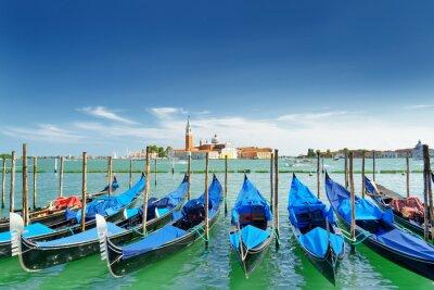 Sticker Vue, gondoles, vénitien, lagune, veneza, italie
