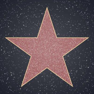 Sticker Walk of Fame. modèle vierge star