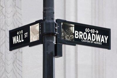 Sticker Wall Street de Broadway à New York