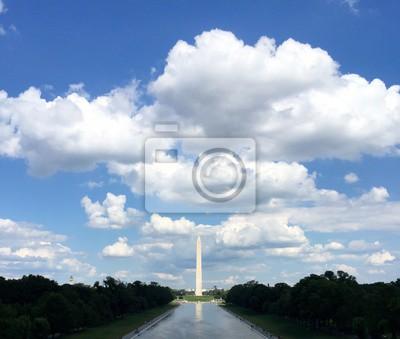 Washington, monument, piscine, bleu, ciel