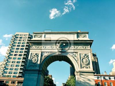 Washington Square arc et les bâtiments en milles