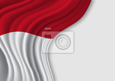 Sticker waving national flag of Indonesia
