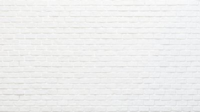 Sticker White brick wall texture background for stone tile block painted in grey light color wallpaper modern interior and exterior and backdrop design