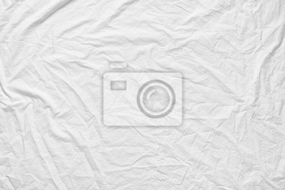 Sticker White fabic texture wrinkled texture ,Soft focus white fabic crumpled from bedding sheet use us background