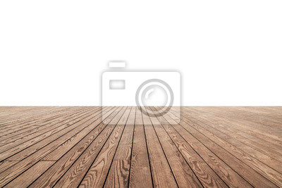 Sticker white painted or plaster wall and wooden floor decoration for background.