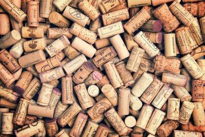 Sticker Wine corks fond
