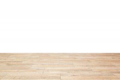 Sticker wooden floor on white background.