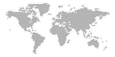 Sticker World map black point white background isolated . Vector illustration.