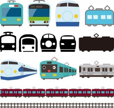 Sticker 電車 と 新 幹線 の ア イ コ ン と ラ イ ン