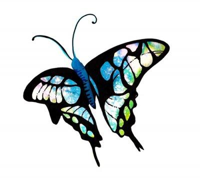 Sticker 수채화 타 타 다 나비 표현 표현 표현