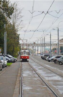 Sticker Трамвай в начале Волоколамского шоссе (Москва)