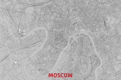 Карта Москвы вид сверху. Moscou Сity