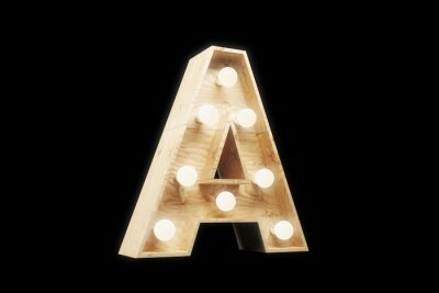 """Ретро вывеска буква """"A"""""""