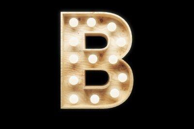 """Ретро вывеска буква """"B"""""""