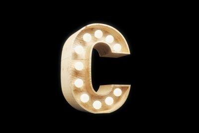 """Ретро вывеска буква """"C"""""""