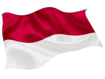 Sticker インドネシア   国旗 世界 アイコン