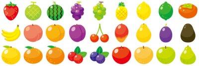Sticker フルーツアイコンセット-Fruit vector icon